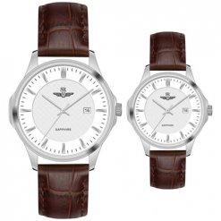 Đồng hồ cặp đôi SRWATCH SR80070.4102CF trắng