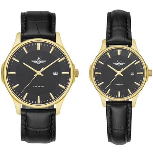Đồng hồ cặp đôi SRWATCH SR80070.4601CF đen