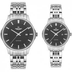 Đồng hồ cặp đôi SRWATCH SR80071.1101CF đen