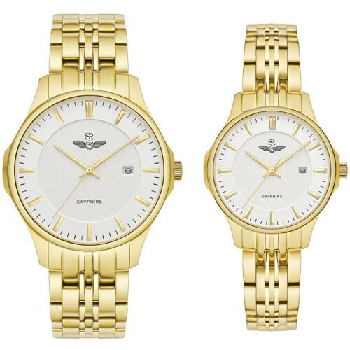 Đồng hồ cặp đôi SRWATCH SR80071.1402CF trắng