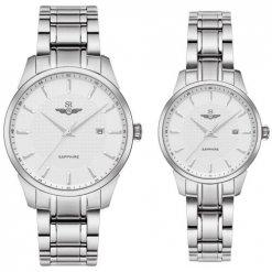 Đồng hồ cặp đôi SRWATCH SR80081.1102CF trắng