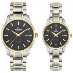 Đồng hồ cặp đôi SRWATCH SR80081.1201CF đen