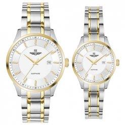 Đồng hồ cặp đôi SRWATCH SR80081.1202CF trắng