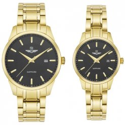 Đồng hồ cặp đôi SRWATCH SR80081.1401CF đen