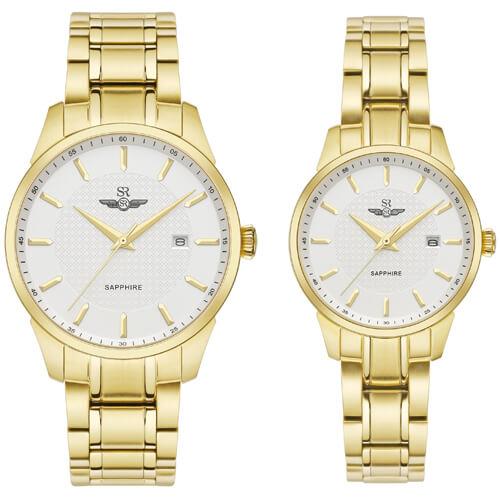 Đồng hồ cặp đôi SRWATCH SR80081.1402CF trắng