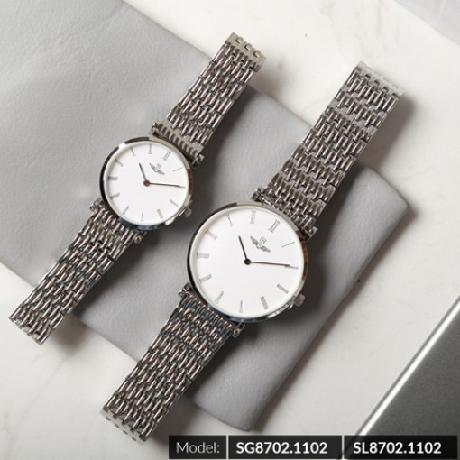 Đồng hồ cặp đôi SRWATCH SR8702.1102 trắng-1