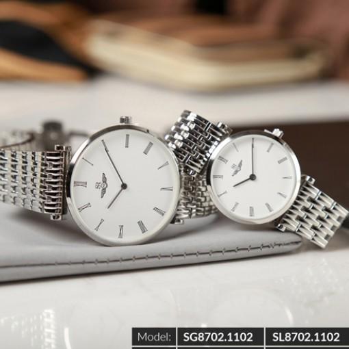 Đồng hồ cặp đôi SRWATCH SR8702.1102 trắng-2