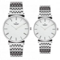 Đồng hồ cặp đôi SRWATCH SR8702.1102 trắng