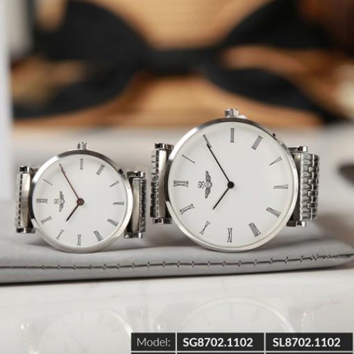 Đồng hồ cặp đôi SRWATCH SR8702.1102 trắng-3