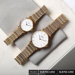 Đồng hồ cặp đôi SRWATCH SR8702.1202 trắng-1