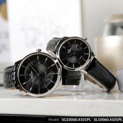 Đồng hồ cặp đôi SRWATCH SR10060.4101PL đen-1