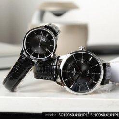 Đồng hồ cặp đôi SRWATCH SR10060.4101PL đen-2