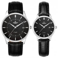 Đồng hồ cặp đôi SRWATCH SR10060.4101PL đen