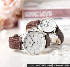 Đồng hồ cặp đôi SRWATCH SR10060.4102PL trắng-1