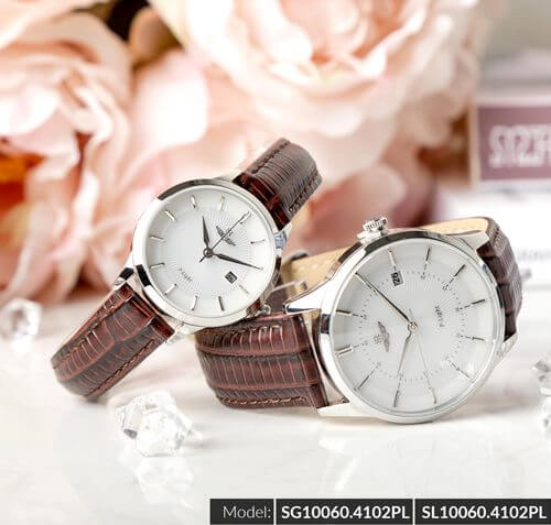Đồng hồ cặp đôi SRWATCH SR10060.4102PL trắng-2