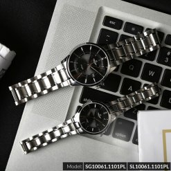 Đồng hồ cặp đôi SRWATCH SR10061.1101PL đen-1