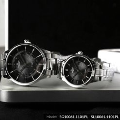 Đồng hồ cặp đôi SRWATCH SR10061.1101PL đen-2
