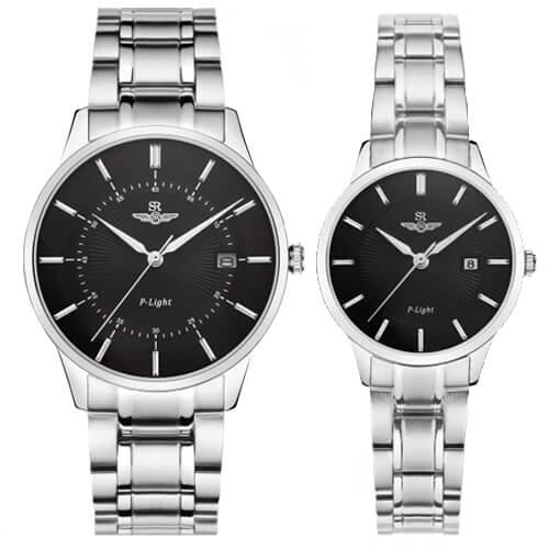 Đồng hồ cặp đôi SRWATCH SR10061.1101PL đen