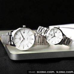 Đồng hồ cặp đôi SRWATCH SR10061.1102PL trắng-2