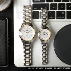 Đồng hồ cặp đôi SRWATCH SR10061.1202PL trắng-1