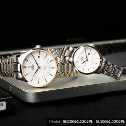Đồng hồ cặp đôi SRWATCH SR10061.1202PL trắng-2