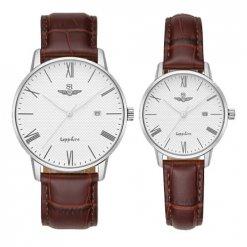 Đồng hồ cặp đôi SRWATCH SR1054.4102TE trắng
