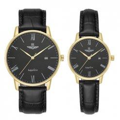 Đồng hồ cặp đôi SRWATCH SR1054.4601TE đen