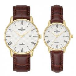 Đồng hồ cặp đôi SRWATCH SR1054.4602TE trắng