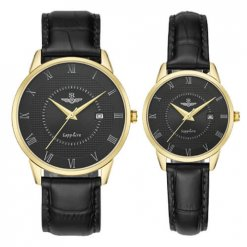 Đồng hồ cặp đôi SRWATCH SR1057.4601TE đen