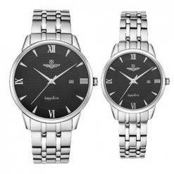 Đồng hồ cặp đôi SRWATCH SR1071.1101TE đen