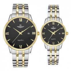 Đồng hồ cặp đôi SRWATCH SR1071.1201TE đen