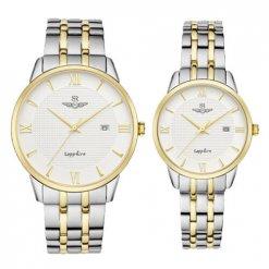 Đồng hồ cặp đôi SRWATCH SR1071.1202TE trắng