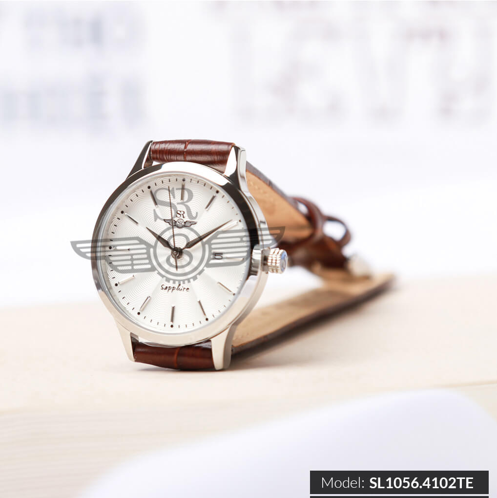 đồng hồ dây da nữ sr