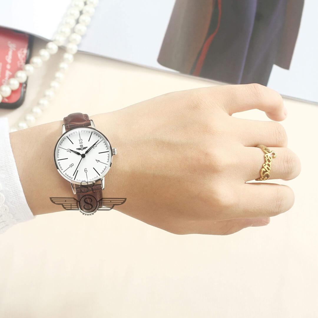 đồng hồ dây da nữ srwatch