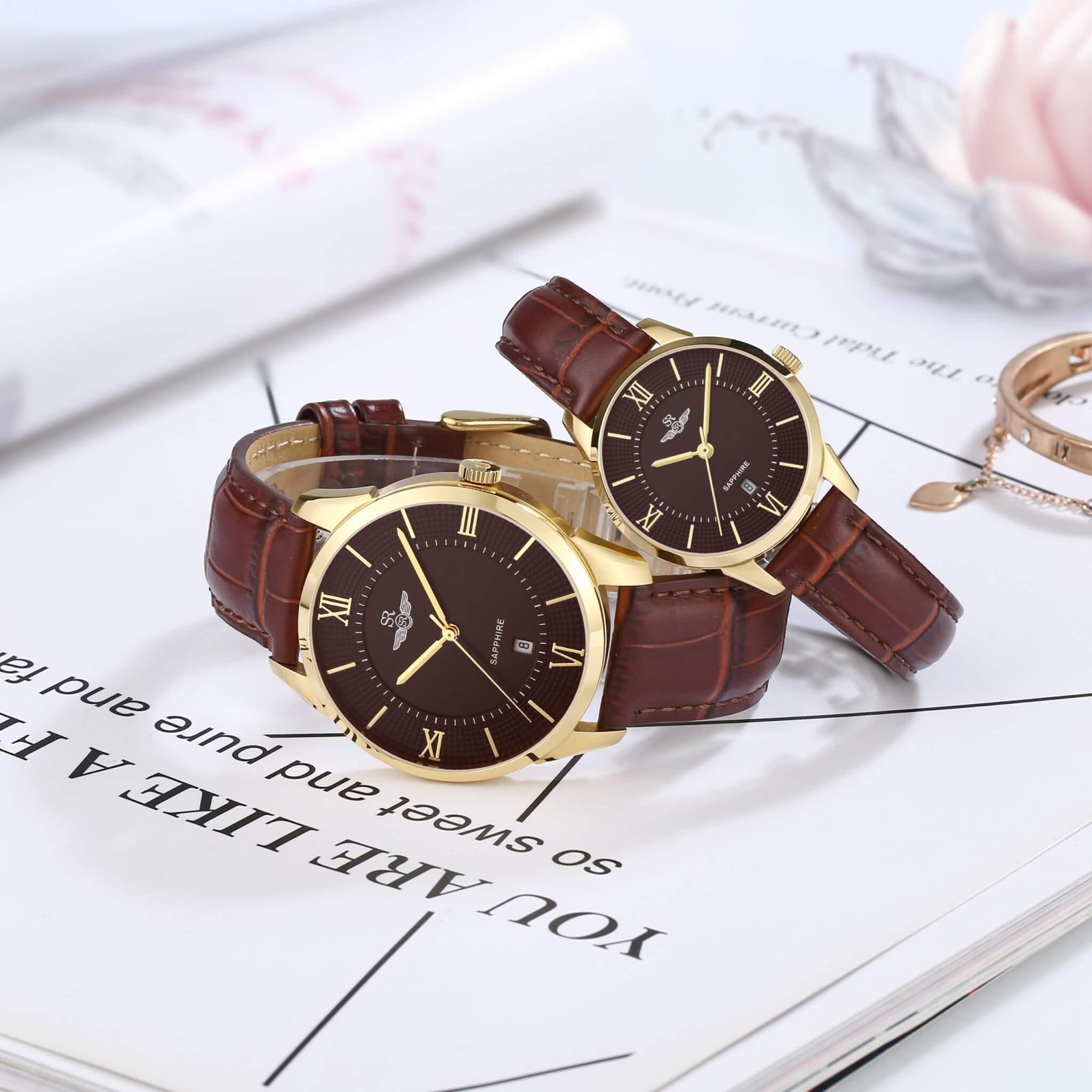 đồng hồ dây da nam chính hãng giá tốt