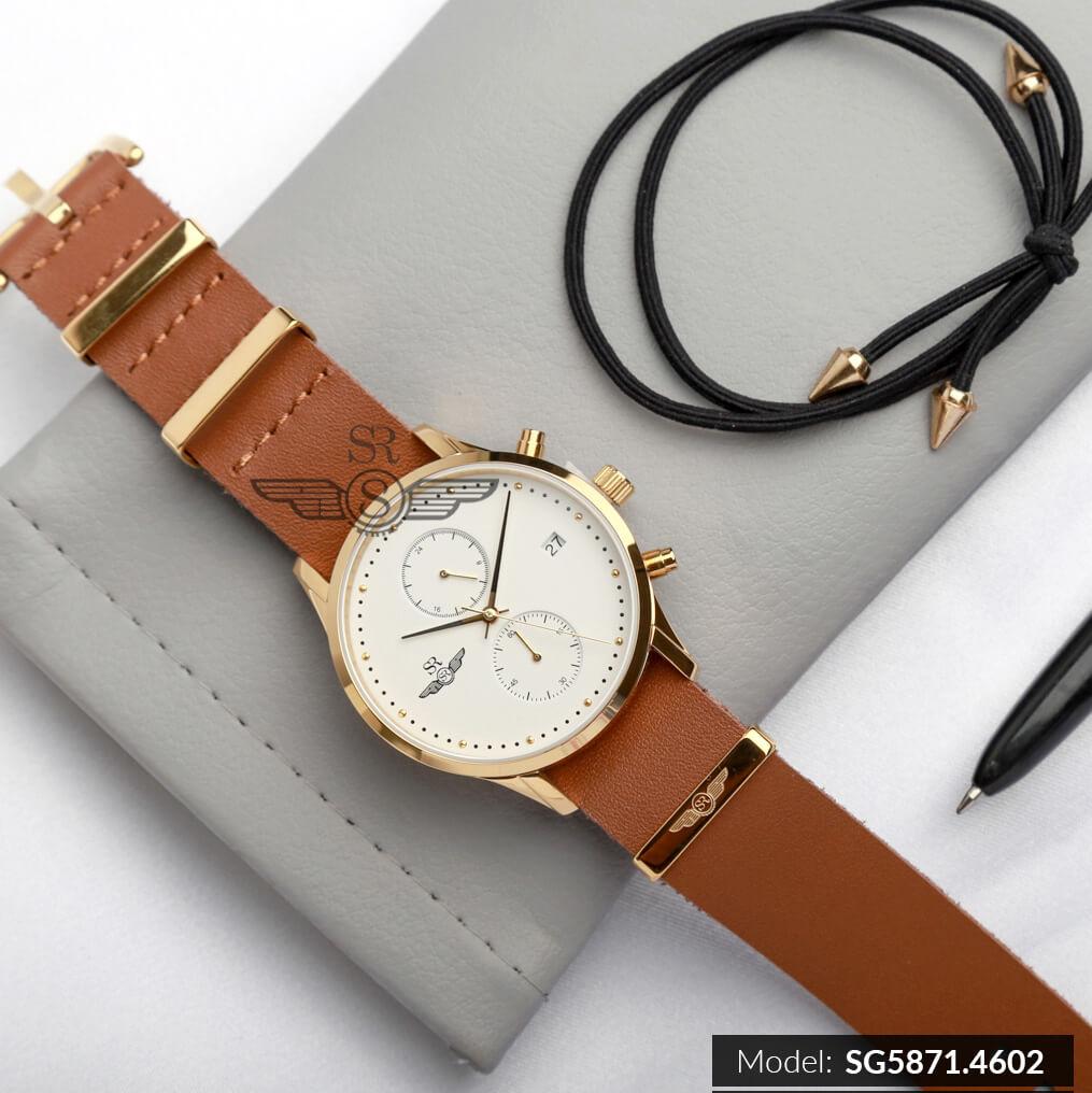 đồng hồ dây da đẹp chính hãng