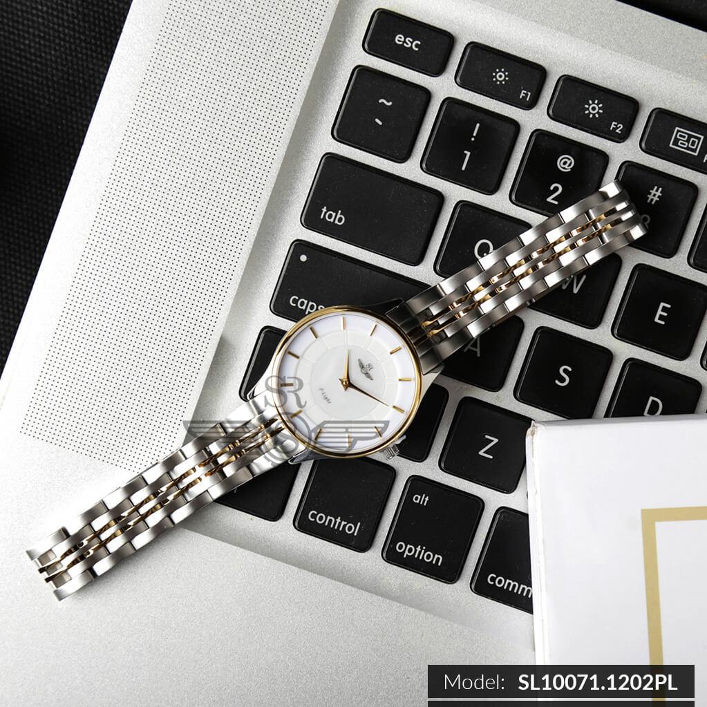 đồng hồ đá sapphire nữ